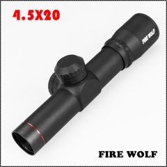 330009 New FRIE WOLF None-Illumination 4.5X20 Mil-Dot one-piece Scope With Flip-up Cover For Hunting Rifle